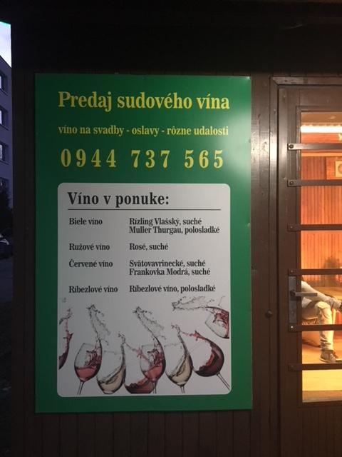 Reklamná tabuľa Predaj sudového vína - Copy Servis Pezinok