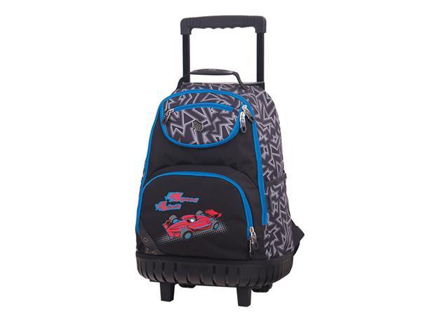 školská taška-modrá-s formulou-na-kolieskach